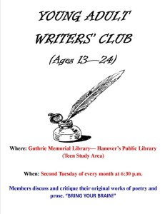 young adult writers flyer